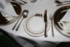 Minton china at British Ambassador's Residence with royal crest