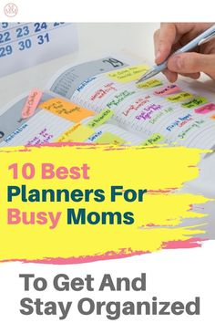 The best planners for moms to manage the household, appointments, to-do lists, projects, and family… If you need a little help getting organized, then you really need to consider using a planner. There are many to choose from including daily, weekly, and monthly planners. You can also pick a planner that encourages productivity, gets tasks done, and goal planners. There are even academic year planners perfect for teachers or homeschooling. Click over to see my top 10 best planners for busy… Money Hacks, Money Savers, Money Tips, Money Saving Tips, Save Money On Groceries, Ways To Save Money, Mom Agenda, Best Planners For Moms, Organizing Ideas