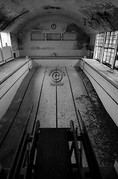 Abandoned Olympic pool from 1934 games in Berlin