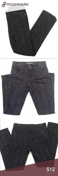 LRL Ralph Lauren Jeans Printed straight leg, stretch jeans Lauren Ralph Lauren Jeans Straight Leg