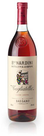 Bortolo Nardini Tagliatella (Bassano del Grappa, Vicenza, Veneto, Italy) -- Aquavite di vinaccia grappa-based cherry liqueur