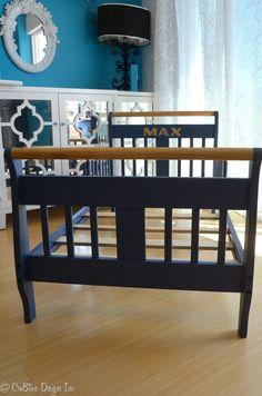 Repainted toddler bed