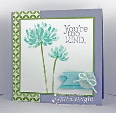 handmade card ... {Freshly Made} Sketches #90 ... You're Too Kind .... cool colors ... lovely interpretation ... Stampin' Up!