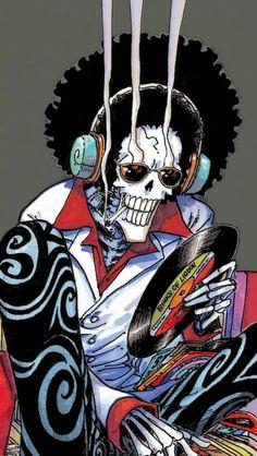 One piece - Brooke Manga Anime, Anime One, Manga Art, Otaku, Character Concept, Character Design, Brooks One Piece, Afro Samurai, Disney