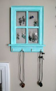 gosh dang it, these people make me mad with how creative they are. it makes me jealous of their creativity. DIY jewelry display. I could totally use this.