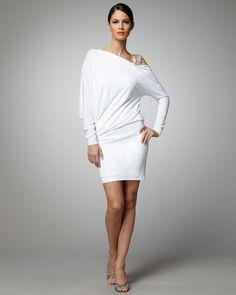 David Meister Dolmansleeve Cocktail Dress in White - Lyst