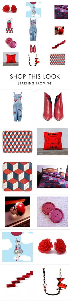 """""""Bold and Beautiful Reds"""" by einder ❤ liked on Polyvore featuring Valentino and Tecnica"""