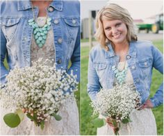 Bridesmaid In Jean Jacket