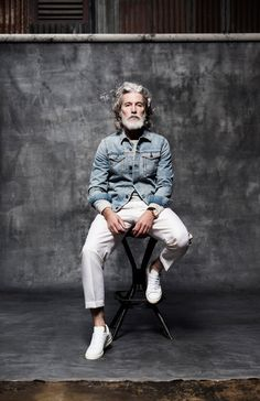 Model and author Aiden Shaw in a fashion story by London based portrait and…