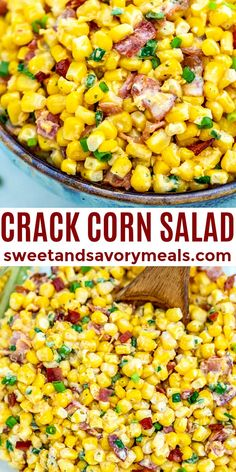 Crack Corn Salad is crunchy, creamy, sweet, sour, and savory all at the same time! #corn #salad #crackcornsalad #sidedish #sweetandsavorymeals