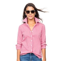 The Exclusive Red Gingham Essential Icon Shirt