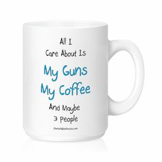 Drink your favorite beverage from a mug that makes a statement. Let everyone know how you feel about your 2nd Amendment rights.