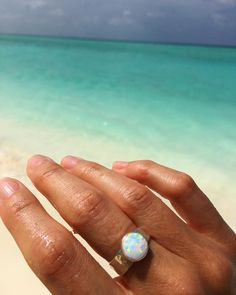 Lifou 'Around you' silver ring with white opal 🐬💕 White Opal, Silver Rings, Engagement Rings, Jewelry, Enagement Rings, Wedding Rings, Jewlery, Bijoux, Commitment Rings