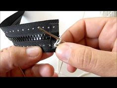 (1) How to Crochet a Zipper onto a Jacket - YouTube