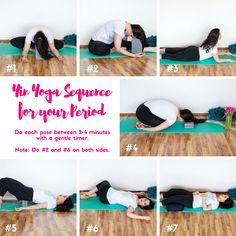 Yin Yoga for your Period www.wellnesswarriorprincess.com #yin #yoga #period…