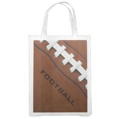 Football Design Reusable Tote Market Tote