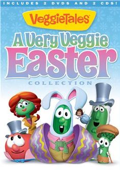 """""""A Very Veggie #Easter Collection"""" contains VeggieTales' 2 beloved Easter episodes plus 2 Easter-themed audio CDs. It's the ultimate way to teach kids the true meaning of Easter! #veggietales #dvd #cd"""
