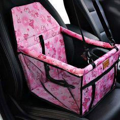Portable Pet Car Seat Belt Booster Bag Dog Cat Safety Travel Carrier Bag Folding Safety