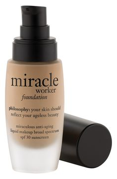 experience the benefits of miracle worker skin care in our new miracle worker foundation. it's liquid makeup that helps improve the signs of aging, even after you take it off. achieve natural looking,