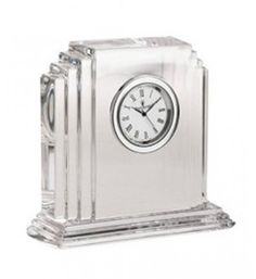 Small Crystal Dartington Crystal Clock