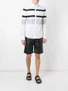 Les Hommes Urban stripe print shirt