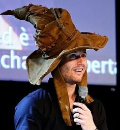 Jensen with the sorting hat on. Lol