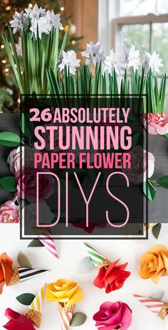 26 Absolutely Stunning Paper Flower DIYs is part of Paper crafts Flowers - No water necessary Faux Flowers, Diy Flowers, Fabric Flowers, Flower Diy, Autumn Flowers, Cactus Flower, Order Flowers, Flowers Online, Flower Boxes
