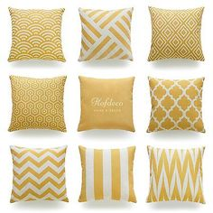 Hofdeco Throw Pillow Cover Mustard Yellow Geometric Fall Autumn Cushion Case 18""