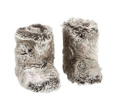Gray Fur Slippers M (10-12)