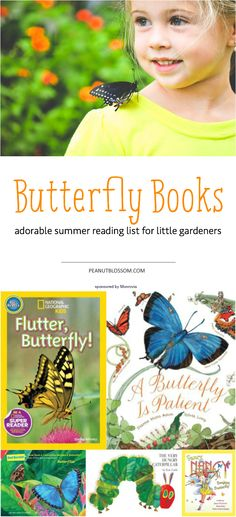 What a great way to continue learning this summer with your kids! Help them raise butterflies in their own garden and check out these books to discover more information about their little fluttery friends!