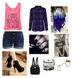 """""""Meeting All Time Low! ❤️"""" by breahhnah ❤ liked on Polyvore featuring Charming Kicks, Rails, Domo Beads, Vanessa Mooney, DKNY and VILA"""