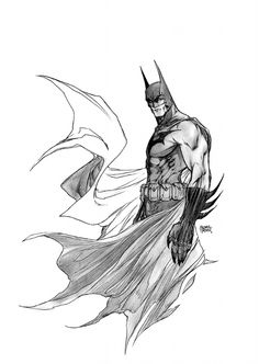 Amazing sketch of the caped crusader:)