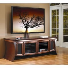 Plans for tv stand Entertainment Complete in one weekend and General woodworking plans for your home I hope you like our DIY TV Stand This woodworkers list Curved Tv Stand, Curved Tvs, Solid Wood Tv Stand, Flat Screen Tv Stand, Large Screen Tvs, Large Tv, 3 Piece Tv Stand, Tv Stand Furniture, Furniture Ideas