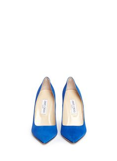 These royal blue suede pumps from Jimmy Choo will add a pop of colour to your outfits. Wear these slender stiletto heels for a svelte elongated silhouette. Royal Blue High Heels, Blue Stilettos, Blue Suede Pumps, Blue Heels, Suede Shoes, High Heel Pumps, Pumps Heels, Stiletto Shoes, Jimmy Choo Shoes