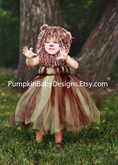 Lion Costume Lion Tutu Lion Mane Wizard by pumpkinbabydesigns, $40.00