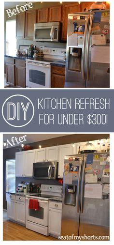 Amazing Budget Kitchen Redo Giani Granite Countertop