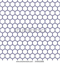 Seamless hexagons texture. Honeycomb latticed pattern. Vector art.