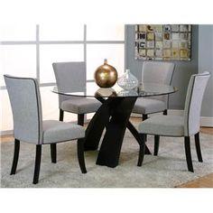Morris Home Furnishings Saxon Saxon 5 Piece Dining Set - Item Number: 25699-47+41+4x11