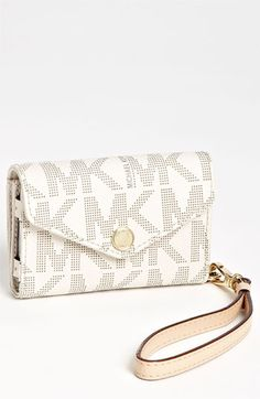 MICHAEL Michael Kors iPhone Wristlet available at #Nordstrom. love it, im getting one of these !