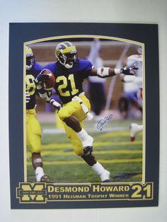 University of Michigan Football Desmond Howard  framingart.net