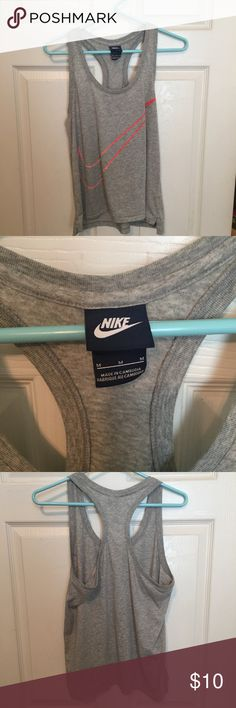 Grey Nike Workout Top Perfect for working out! Only worn a few times and washed well. Nike Tops