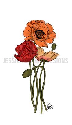 poppy tattoo - Hledat Googlem