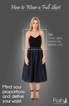 How to Wear a Full Skirt #style #fashion #looks #fbloggers #fashionblogger #springtrend #spring #spring14 #fullskirt