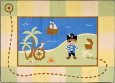 Adorable Pirate Rug from Joy Carpets is a steal with Free Shipping. Perfect for playrooms, nurseries and more! http://www.sensoryedge.com/lil-pirate-childrens-rug.html