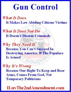 Gun Control, the truth