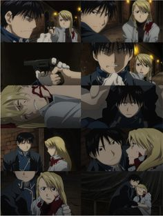 """Day 5 - The ship you wish was canon: Roy Mustang & Riza Hawkeye, Fullmetal Alchemist: Brotherhood   """"This is pure hatred, and I will not let it take you. You're better… I know you're better than that."""""""