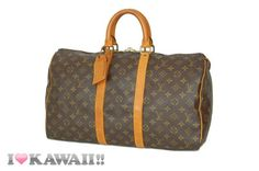 Authentic Louis Vuitton Monogram Keepall 45 Bag Boston Duffle Free Shipping!