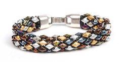 DiamondDuo bracelet by Tammy Honaman  Bead Weaving DiamonDuo and Demi Round Seed Beads