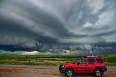 Epic Chase by Colt Forney - Amazingly structured supercell by Putnam, OK on July 12, 2010. My chase vehicle is in the foreground. What an amazing day!!! Click on the image to enlarge.