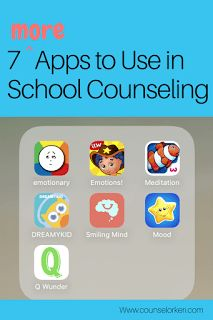 About a month ago, I posted about 7 apps that are great to use in school counseling for check in/check out, emotion regulation, and more. I heard from a lot of people that they're always looking for more ways to integrate technology into counseling, so I'm back to share 7... #featured #technology